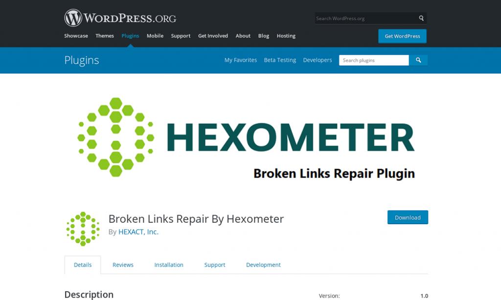 Broken Links Repair Plugin