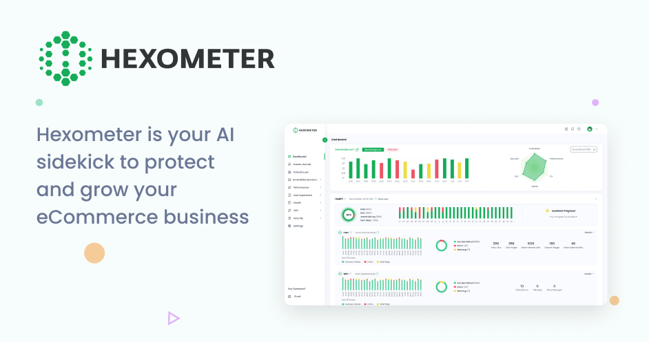 Hexometer - 24/7 AI website monitoring to protect & grow your business